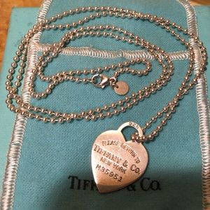Tiffany & Co Return to Tiffany heart tag necklace